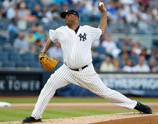 Sabathia struggles early, Yankees fall to Tigers 4-3