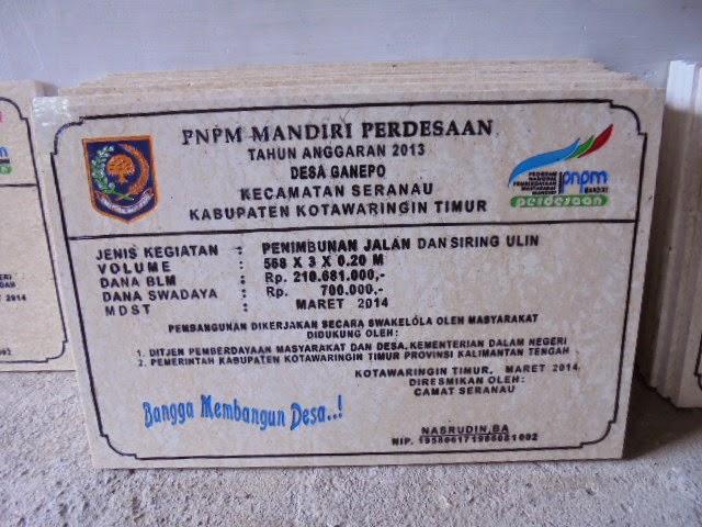 Contoh Prasasti Marmer PNPM