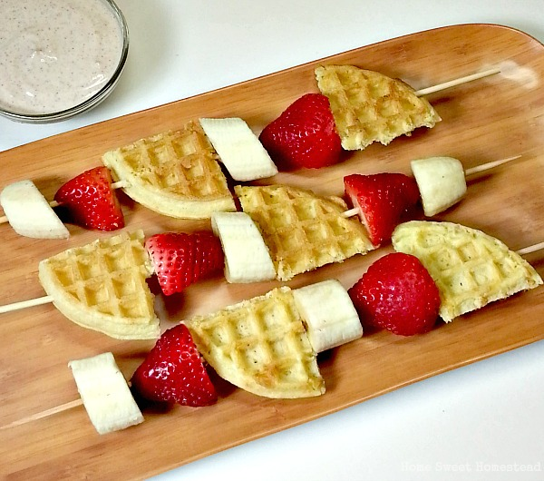 Fruit and Waffle Kabobs