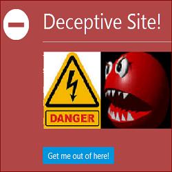 cara menghilangkan peringatan Deceptive Site