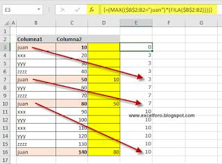 Obtener Coincidencia Previa en Rango de Excel