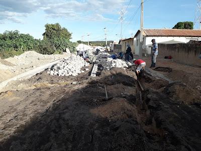 Inúbia: Estão em andamento as obras de pavimentação  da rua Irmã Dulce