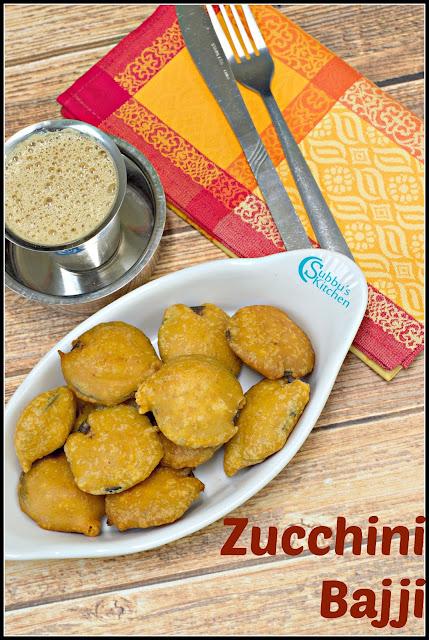 Zucchini Bajji Recipe | Zucchini Fritters Recipe