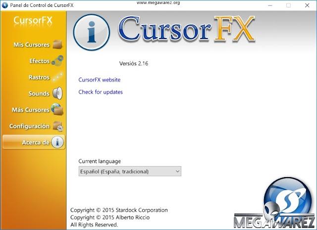 Stardock CursorFX Plus 2 16 Full, Programa para personalizar