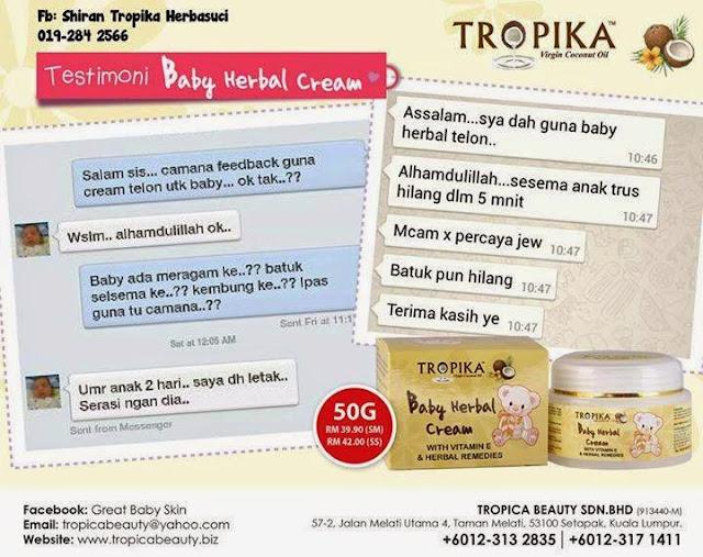 testimoni Baby Herbal Cream
