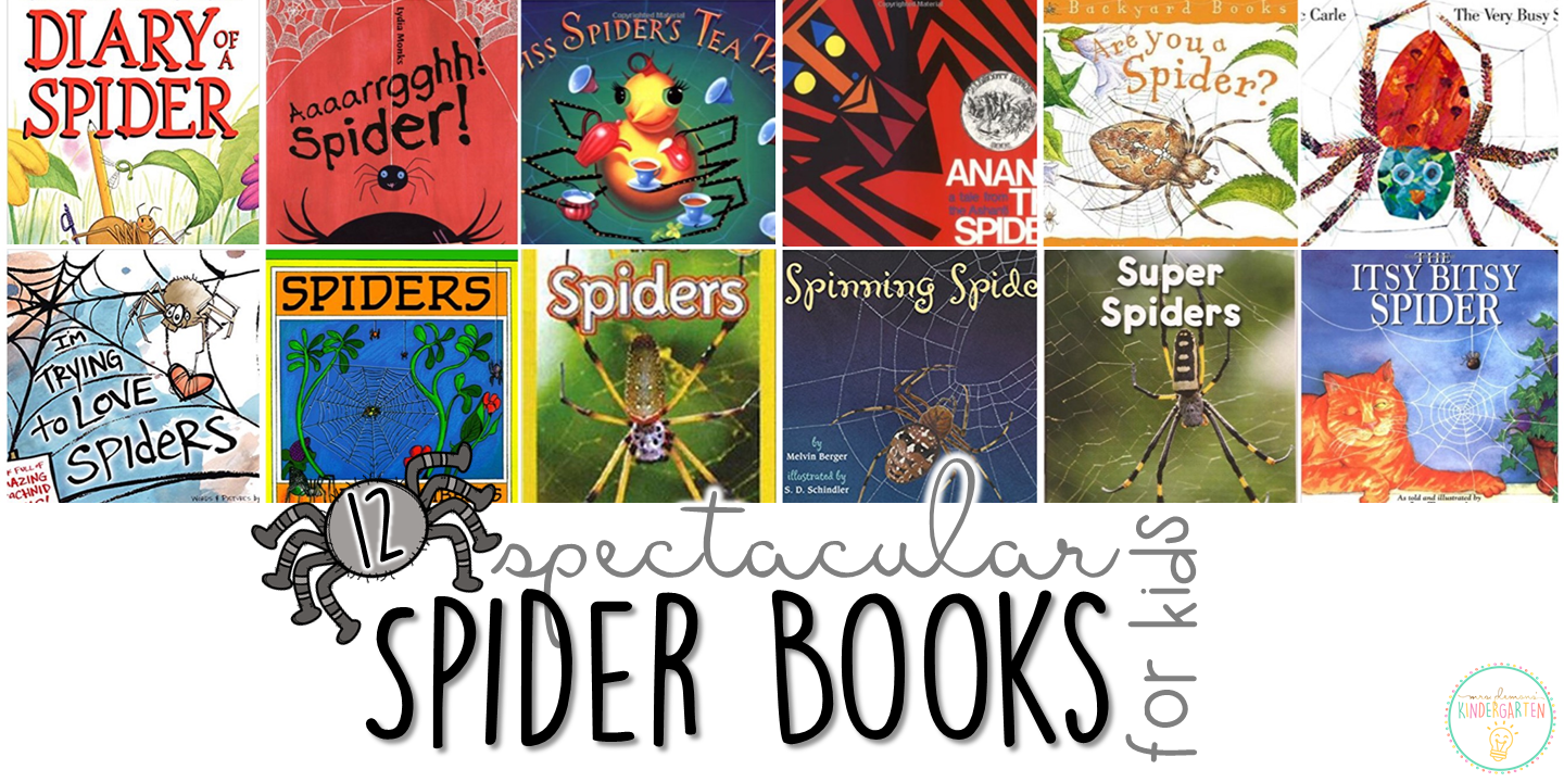 12 Spectacular Spider Books For Kids Mrs