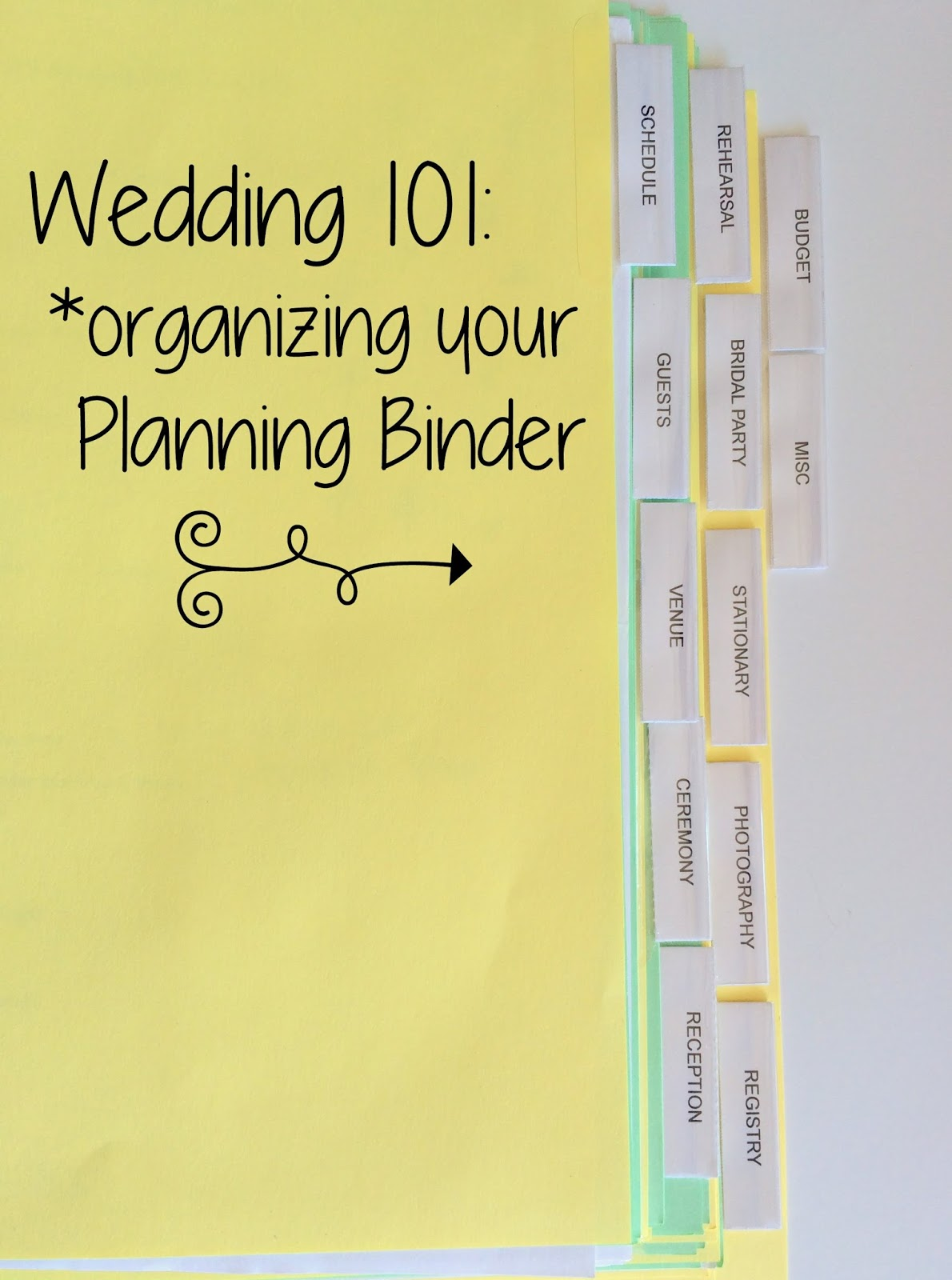 Pies Etc Wedding 101 The Planning Binder
