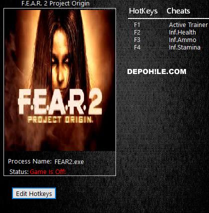 F.E.A.R. 2 (PC) Oyunu Sınırsız Can,Mermi +3 Trainer Hilesi