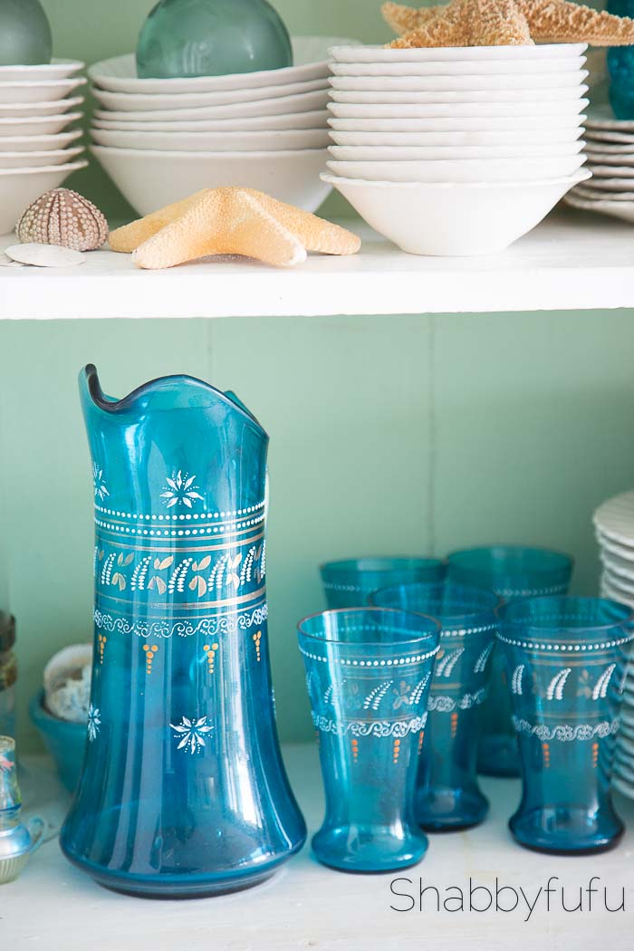 beach-coastal-vintage-glassware