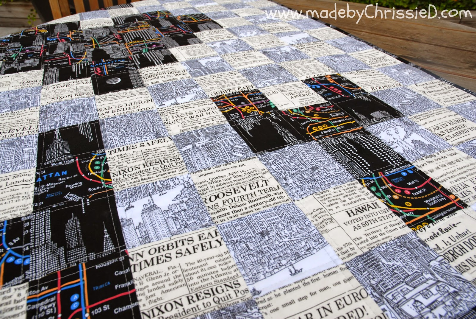 Could You Live Here? Quilt by www.madebyChrissieD.com
