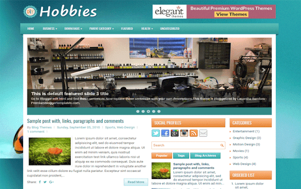 Hobbies Free Blogger Template