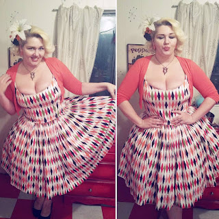White harlequin Jenny dress from Pinup Girl Clothing