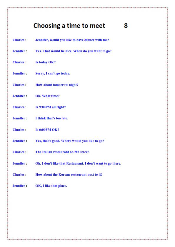 هدية جبارة للمعلمين والطلاب .. 100 محادثة باللغة الانجليزية English_Conversation_008