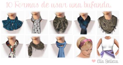 10 Formas de usar una bufanda