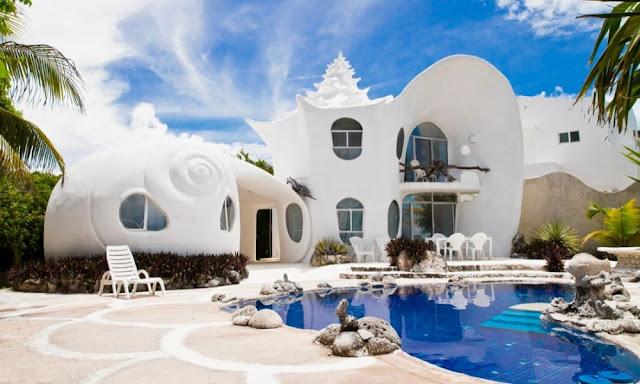 Casa a forma di conchiglia