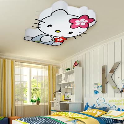 Trang tri phong ngu Hello Kitty dep 15