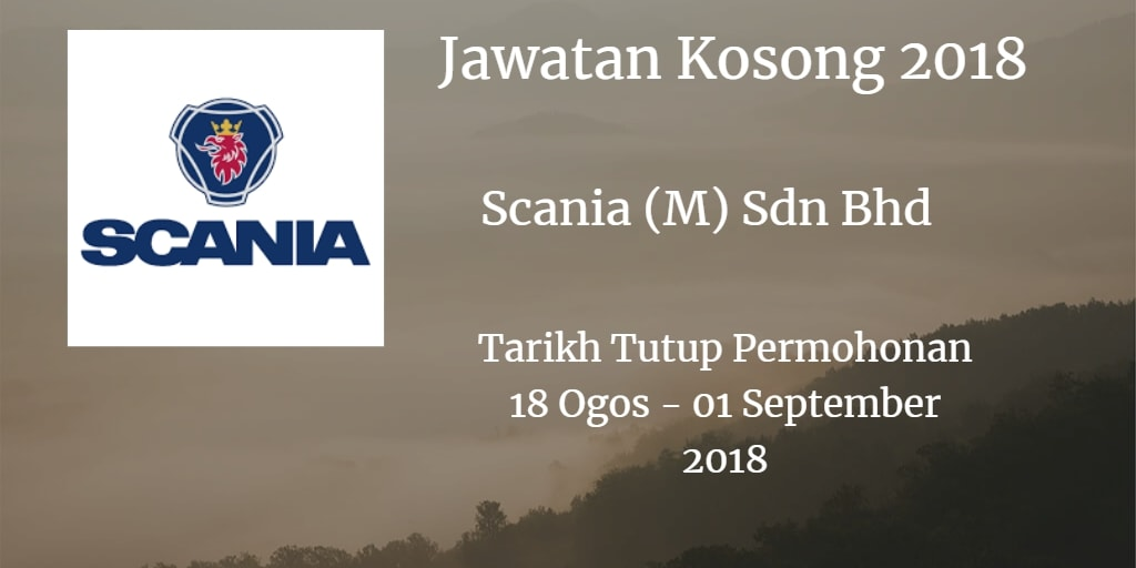 Jawatan Kosong Scania (M) Sdn Bhd 18 Ogos - 01 September 2018