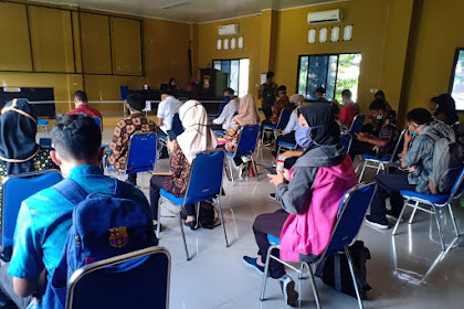 Hari Terakhir Pendaftaran Online Penerimaan Polri T.A. 2020, Polres Maros Layani Ratusan Pendaftar Gunakan Masker