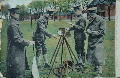 SIgnaling by Heliograph, Signal Corps, Fort Omaha, Neb. 1908