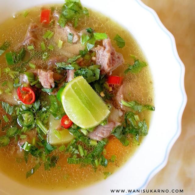 cara masak sup tulang daging noxxa yang mudah dan sedap