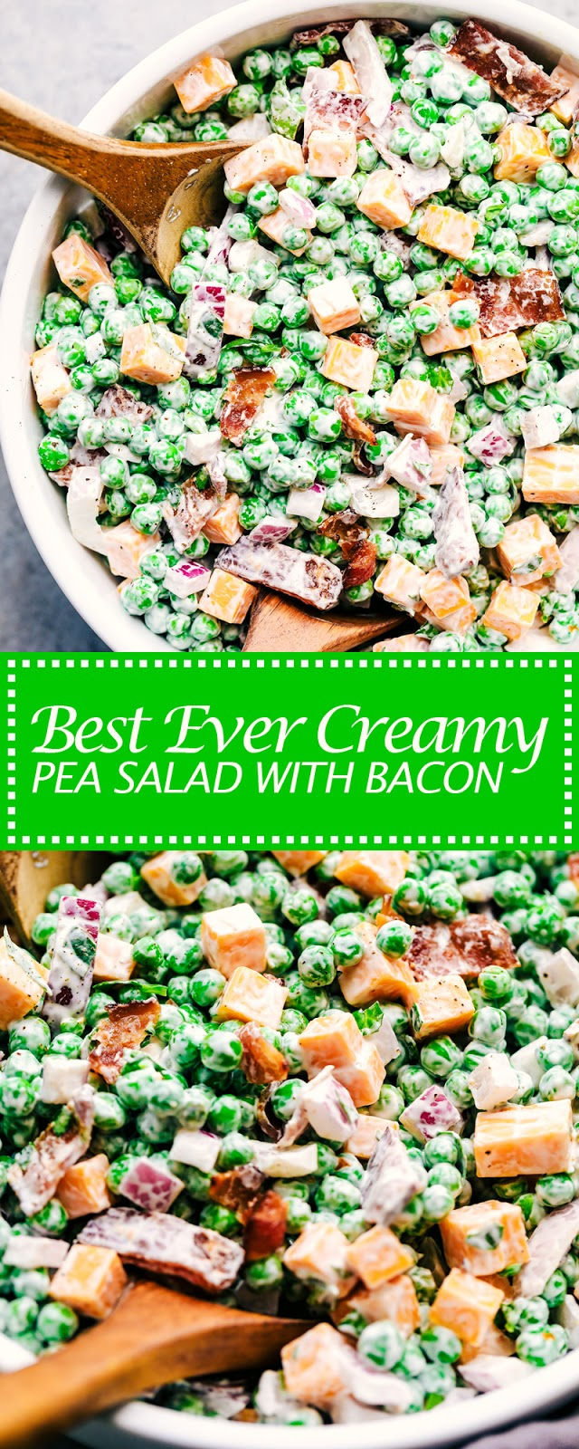 BEST EVER CREAMY PEA SALAD WITH BACON