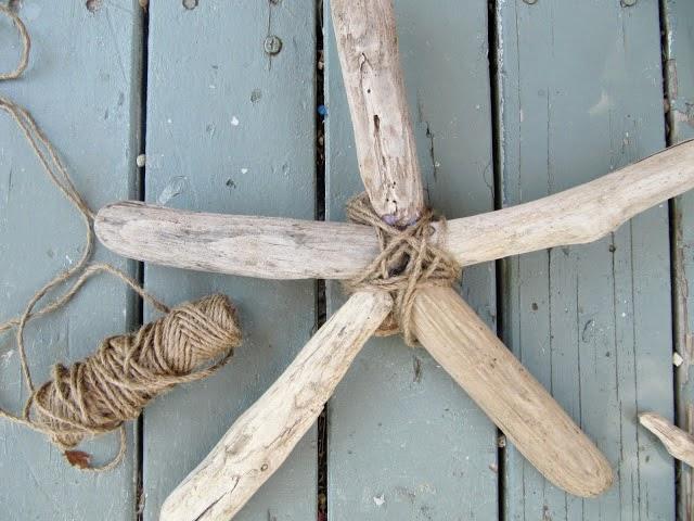 Estrellas decorativas con madera del mar3