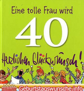 Glückwünsche zum 40. geburtstag