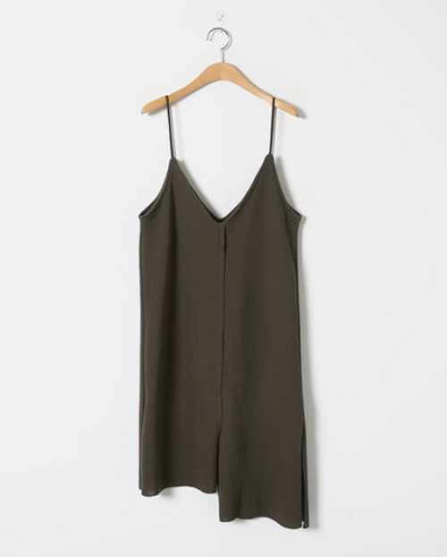 Side-Slit Asymmetric Slip Dress
