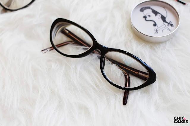gafas cateye negras