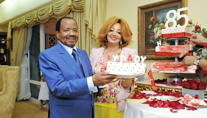 Cameroonian president, Paul Biya and his stunning wife, Chantal, celebrate his 85th birthday(photos)
