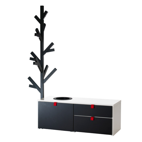 ikea odda storage unit with coat stand ebay. Black Bedroom Furniture Sets. Home Design Ideas