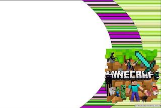 Cumpleaños de Minecraft: Invitaciones para Imprimir Gratis.