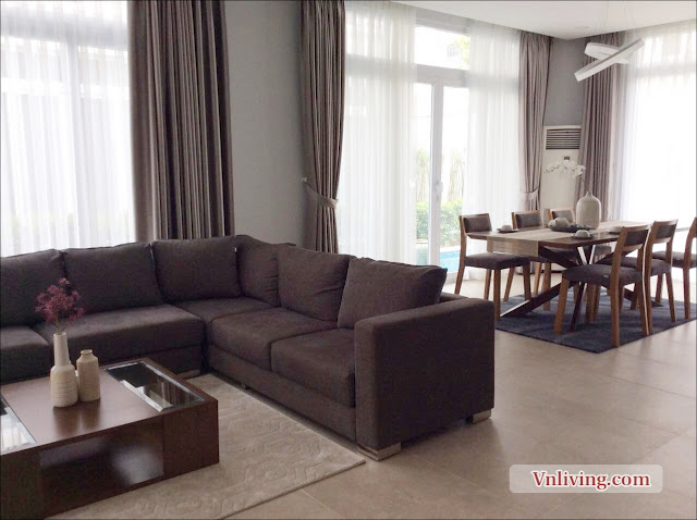 Living room Villas The Venica for lease in District 2