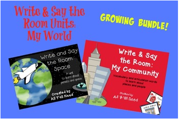 Write and Say the Room: My World by All Y'all Need