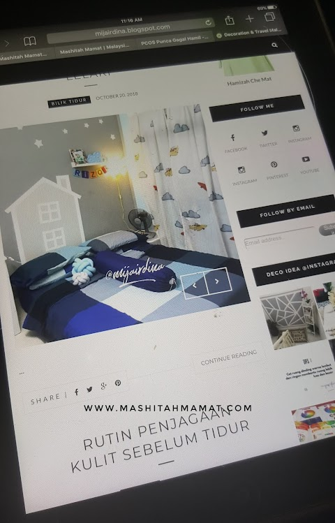 Blog Mija, Decoration & Travel Malaysia Blogger