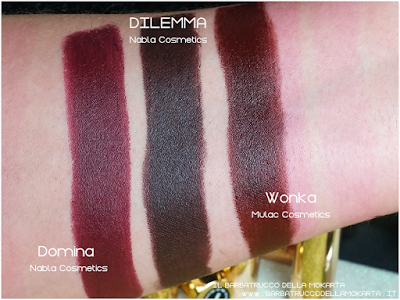 DILEMMA cmparazioni diva crime goldust collection Nabla cosmetics