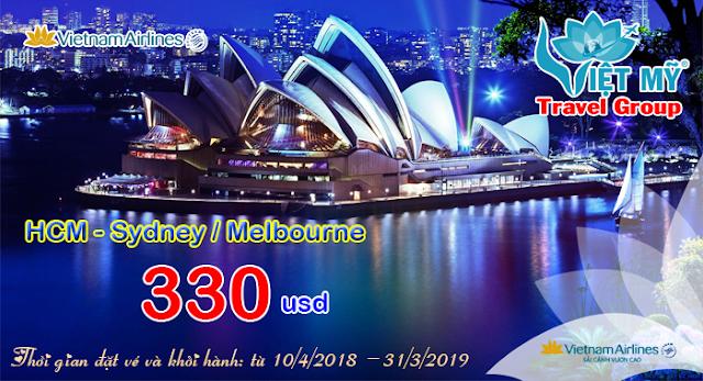 Vietnam Airlines siêu khuyến mãi đi Úc chỉ từ 330 USD