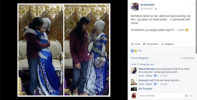 Gagal Nikah, Pria Ini Peluk Mantan di Pelaminan Usai Pacaran 5 Tahun