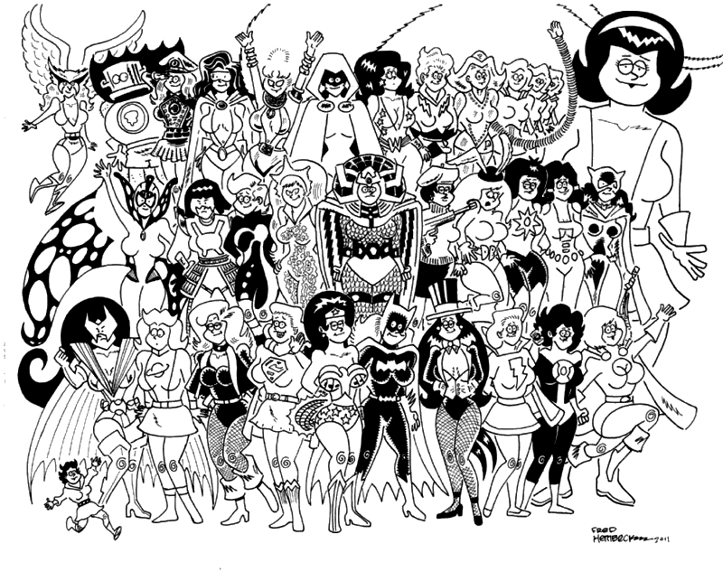 32 DCU Women by Fred Hembeck