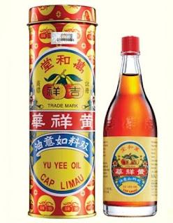 minyak yu yee cap limau, minyak yu yee cap limau, yu yee oil, minyak yu yee, yu yee, minyak angin, kembung perut, pening, sakit kepala