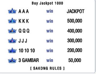 Cara Menang Jackpot Sakong VBandar.net
