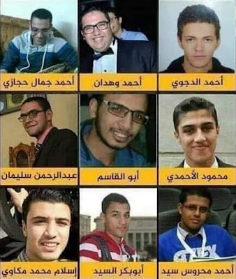 The nine men executed on Wednesday (Twitter)