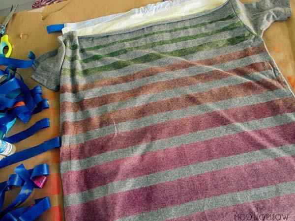 kumaş boyası ile tişört boyama