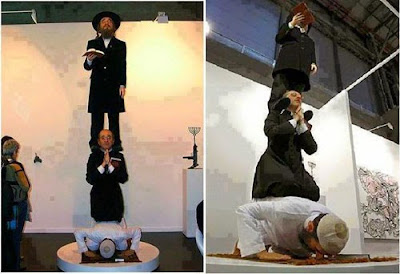 تمثال مسلم ومسيحي ويهودي