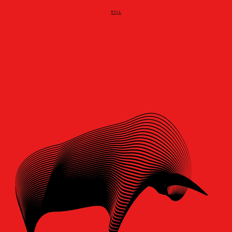 19-Bull-Andrea-Minini-Minimalist-and-Highly-Stylized-Drawings-www-designstack-co