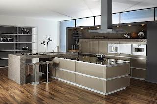 Cocina integral moderna gris