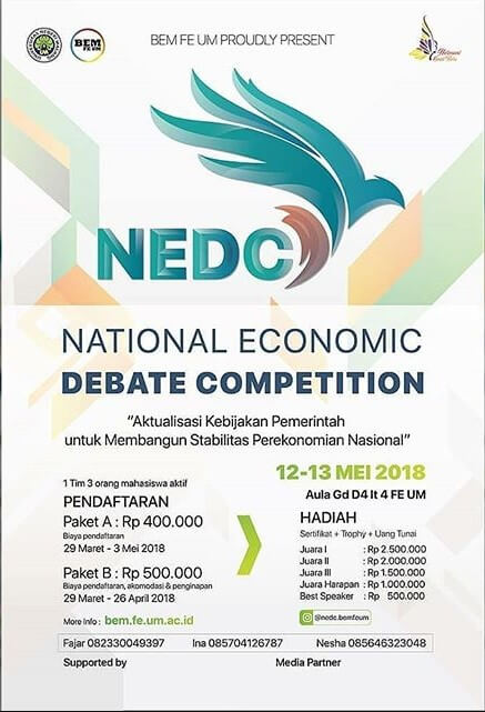 Lomba National Economic Debate Competition 2018 UM