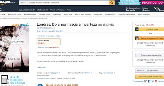 Amazon | Londres - Do amor nascia a incerteza
