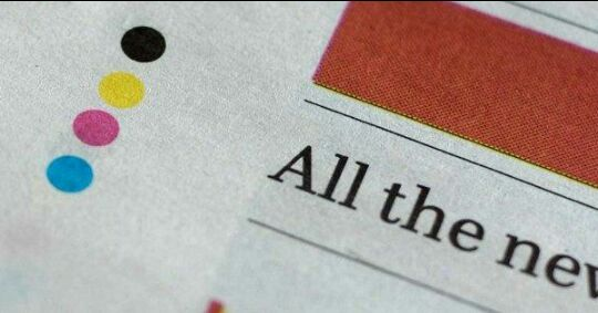 Why Dots at the edges of newspaper ? To check the printing is OK or not ..