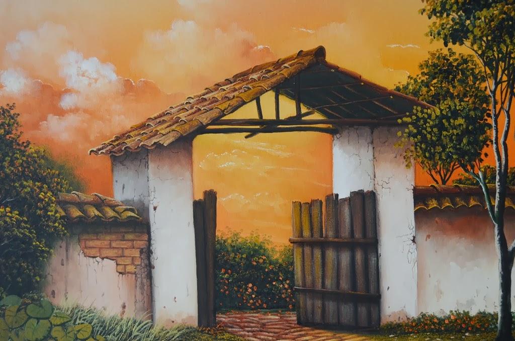 Cuadros modernos pinturas y dibujos cuadro de paisaje - Cuadros de atardeceres ...